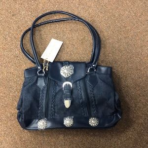 NWT Canyon Sky Blue Jean Purse with Silver Accents
